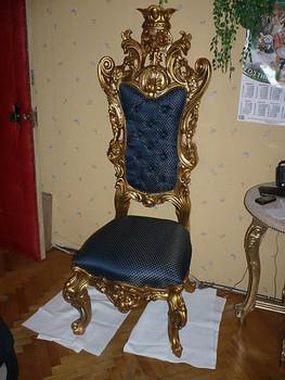 кресло дубъ 19 век 2