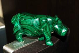 Бегемот - Резная фигурка из малахита Нубия 2