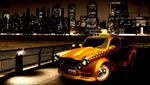 Размещение рекламы на дверях такси.