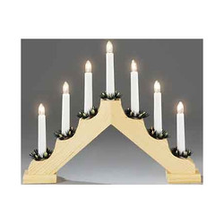 декоративные светильники Konstsmide 7 Light Wooden Candlestick