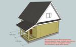 Простые проекты – прорисовка дома, бани, коттеджа и т.п.