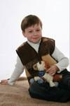 Детская жилетка из шерсти