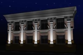 Архитектурная и декоративная подсветка зданий 3