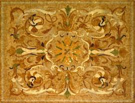 Мозаичные ковры из натурального камня 10