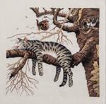 """Картина вышивка крестом """"Кот"""""""