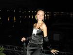 Вечернее платье черный атлас