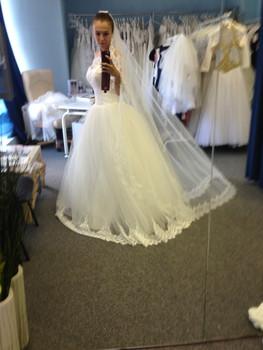 Новое свадебное платье+длинная фата 5