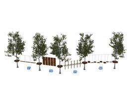 Веревочный парк на деревьях D2-16 10