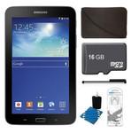 Samsung SM-T110 + 16GB Card + Headphones + Case Bundle