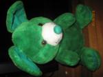 Мышь зелёная большая оригинальная большая мягкая игрушка