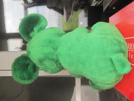 Мышь зелёная большая оригинальная большая мягкая игрушка для дет 4