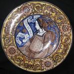 Настенное декоративное блюдо из керамики