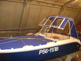 Ремонт тента на катер лодку яхту 4