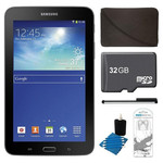 Samsung SM-T110 + 32GB Card + Headphones + Case Bundle