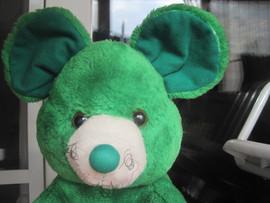 Мышь зелёная большая оригинальная большая мягкая игрушка для дет 6