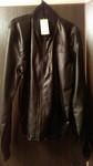 Куртка мужская Adidas коричневая. Кож/зам новая