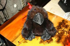 Ворона - Игрушка из норки и кожи 2