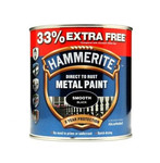 Hammerite Direct To Rust Smooth Black 750ml +33% free