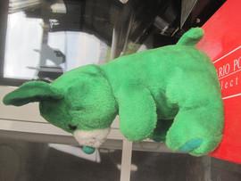 Мышь зелёная большая оригинальная большая мягкая игрушка для дет 3