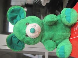 Мышь зелёная большая оригинальная большая мягкая игрушка для дет 5