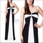 вечернее платье черные и белые полосы L