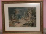 Картина-вышивка гобелен(Зимняя ночь)