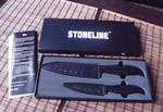 Stoneline набор керамических ножей 2 ножа с чехлами