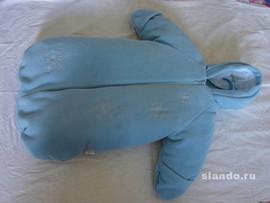 Теплый комбинезон своими руками для новорожденного