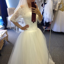 Новое свадебное платье+длинная фата 6