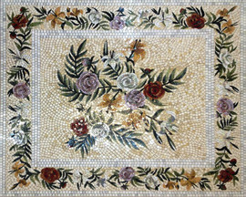 Мозаичные ковры из натурального камня 3