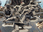 солдатики 1/32 Barzso Пираты с орудием 5 фигур 5 поз