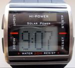 Спортивные часы на солнечной батарее. Бегущая строка!!!