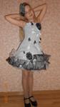 Нарядное современное черно-белое платье Модерн