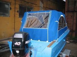 Ремонт тента на катер лодку яхту 2
