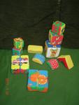 музыкальные игрушки и мягкие кубики