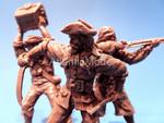 солдатики 1/32 Barzso Пираты 3 фигуры коричневый