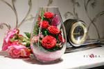 Продаем натуральные цветы в стекле в вакууме в герметичных вазах