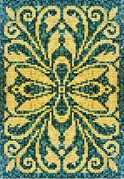 Мозаичные ковры из натурального камня 6