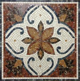 Мозаичные ковры из натурального камня 9