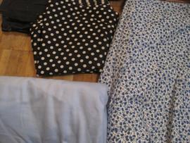 Отрез сине-голубой однотонной плотной ткани размером 80 (ш) x 45