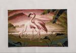"Картина вышивка крестом ""Розовые фламинго"""