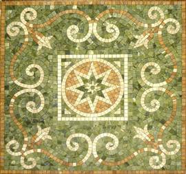 Мозаичные ковры из натурального камня 7