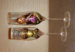 Роспись свадебных бокалов на заказ, бокалы для молодожен