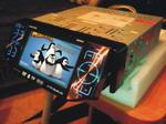 Автомагнитола Pioneer 7550 с встроенным Большим ЖК экраном 5 дюй