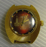 Часы наручные «Олимпиада 80» Заря 22 камня позолота 10 мкн. СССР
