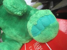 Мышь зелёная большая оригинальная большая мягкая игрушка для дет 7