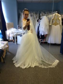Новое свадебное платье+длинная фата 4
