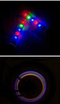 Cветящиеся 5LED колпачки на колеса 3