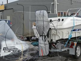 чехол на подвесной и стационарный мотор для катера 4