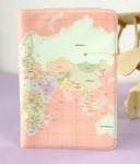 Обложка для паспорта с картой мира